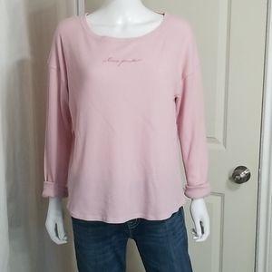 "PINK Victoria's Secret Waffle Knit "" Love Pink"""